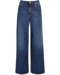 ME+EM Ultimate Wide-leg Pants - Blue
