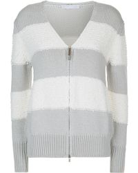 Fabiana Filippi - Textured Stripe Cardigan - Lyst