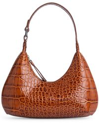 BY FAR - Baby Croc-embossed Leather Amber Bag - Lyst