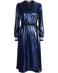 Robert Rodriguez - Sequin Embellished Wrap Dress - Lyst