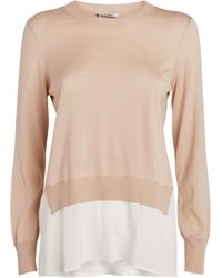 Peserico Layered Knitted Top - Natural
