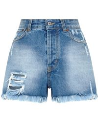 Forte Couture - Distressed Denim Shorts - Lyst