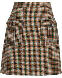 Claudie Pierlot Check Mini Skirt - Multicolour