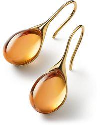 Baccarat - Vermeil And Crystal Gala Drop Earrings - Lyst