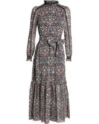 ME+EM Floral Print Midi Dress - Multicolour