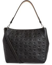 MCM Leather Klara Hobo Bag - Black