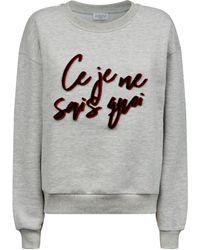 Claudie Pierlot Slogan Sweatshirt - Black