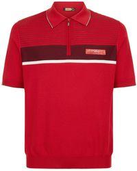 Zilli - Striped Alligator Polo Shirt - Lyst