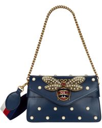 Gucci - Embellished Broadway Shoulder Bag - Lyst