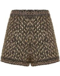 M Missoni - Metallic Boucl Tweed Shorts - Lyst