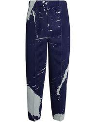 Homme Plissé Issey Miyake Cropped Plissé Pants - Blue