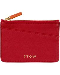 Stow Leather Coin Purse - Red