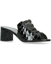 Gina Croc-embossed Cosmos Mules 50 - Black