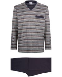 Zimmerli - Cotton Stripe Pyjama Set - Lyst
