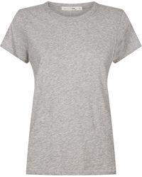 Rag & Bone The Tee Round Neck T-shirt - Grey