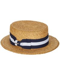 9bef2c00b94fc Tonal Ribbon Fedora.  268. More colors available. Brooks Brothers · Stetson  - Striped Ribbon Panama Hat - Lyst
