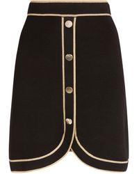 Claudie Pierlot - Metallic-trim Asymmetric Skirt - Lyst