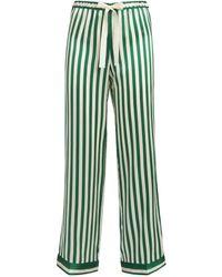 Morgan Lane Chantal Striped Pyjama Bottoms - Green