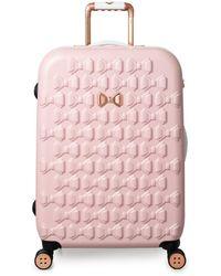 Ted Baker Beau 54cm 4-wheel Cabin Suitcase - Pink