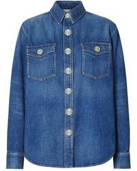 Burberry - Flora Denim Shirt - Lyst