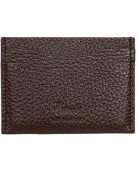 Harrods Leather Card Holder - Brown