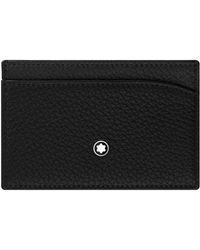 Montblanc - Grained Leather Card Holder - Lyst