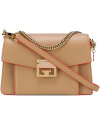 Givenchy Small Leather Gv3 Cross-body Bag - Brown