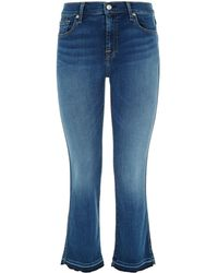 7 For All Mankind - Cropped Bootcut Bair Jeans - Lyst