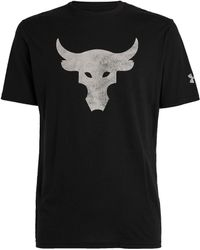 Under Armour Project Rock Bull Logo T-shirt - Black