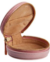 Stow Leather Compass Acessories Case - Pink