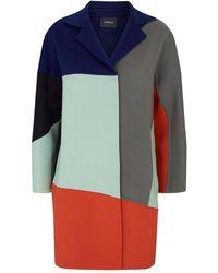 Akris Cashmere Colour-block Coat - Blue