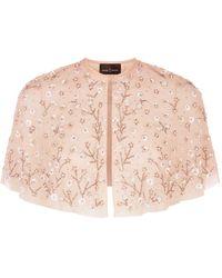 Needle & Thread Embellished Starlit Cape - Pink