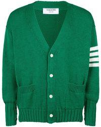 Thom Browne - Cotton Four-stripe Cardigan - Lyst
