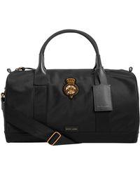 436c65562755 Lyst - Ralph Lauren Gents Leather Crossbody Bag in Black for Men