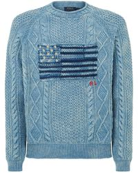 Polo Ralph Lauren - American Flag Cable Knit Jumper - Lyst