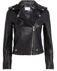 Claudie Pierlot Leather Jacket - Blue