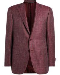 Canali - Wool-silk Blend Blazer - Lyst