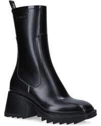 Chloé Leather Betty Boots 50 - Black