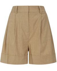 Diane von Furstenberg Linen-blend Shiana Shorts - Brown