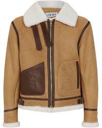 Loewe Shearling Aviator Jacket - Brown