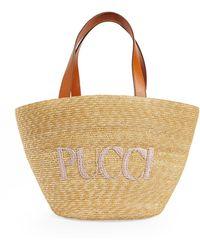 Emilio Pucci 2-in-1 Sirens Song Logo Basket Bag - Multicolor