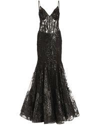 Jovani Sequin-embellished Gown - Black