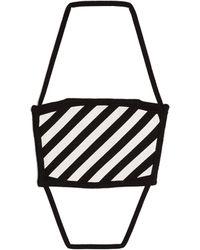 Off-White c/o Virgil Abloh Diagonals Face Covering - Black