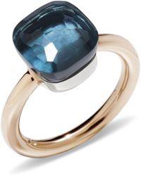 Pomellato - Nudo London Blue Topaz Classic Ring - Lyst