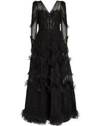 Zuhair Murad Embellished Woolf Maxi Dress - Black