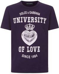 Dolce & Gabbana - University Of Love T-shirt - Lyst