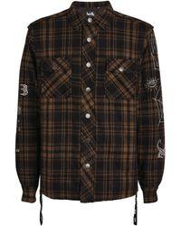 Haculla Graphic Check Shirt - Black