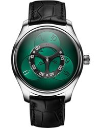 H. Moser & Cie Endeavour Flying Hours Watch 42mm - Green