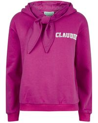 Claudie Pierlot Tcool Logo-print Cotton-blend Hoody - Pink