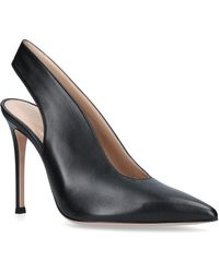 Gianvito Rossi - Leather Delta Court Shoes - Lyst